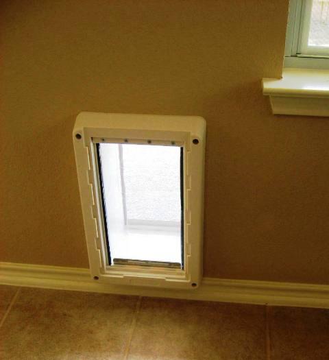 Exceptional House Diy 1 Install Through Wall Dog Door ...